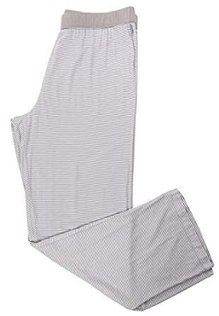 DKNY 女式经典软条纹睡衣裤,灰色,XL 码