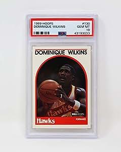 Hoops 1989 Dominique Wilkins 亚特兰大鹰队 #130 石薄荷色 PSA 10 独特篮球收藏卡