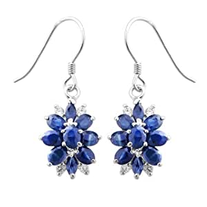 Fedora 斐达罗 925银天然蓝宝石 欧美 时尚风 女款 银针耳环耳饰
