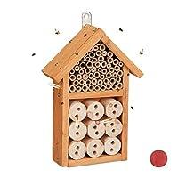 Relaxdays 昆虫屋 建筑套件,昆虫屋,适用于甲虫,蜜蜂和草蛉,自行建造,26 x 16 x 6 厘米,ver。 颜色 10027819_48