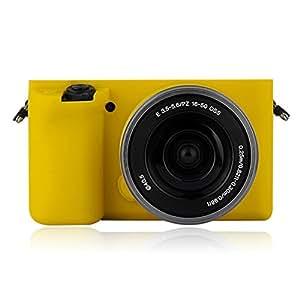 FNSHIP 软硅橡胶相机保护套外壳 SONY A6000 ILCE-6000L 16-50mmFNSHIP-CASE-001-YELLOW 黄色