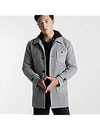 梵瑞贝依 2018新款大码风衣男外套保暖中长款大码羊毛呢子大衣驼色商务