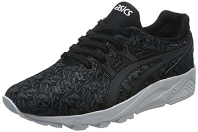 ASICS TIGER 男 复古休闲跑步鞋 GEL-Kayano Trainer EVO-U 黑色/深灰色 41.5 (亚马逊进口直采,日本品牌)
