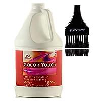 Wella 威娜 COLOR TOUCH *乳霜顯影劑(帶圓滑色調刷)過氧化霜,適用于 ColorTouch 發色染料 13 Volume / 4% - 3.78 LITER / 1 GALLON