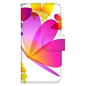 智能手机壳 手册式 对应全部机型 印刷手册 wn-442top 套 手册 蝴蝶图案 UV印刷 壳WN-PR061424-MX AQUOS Xx2 502SH B款