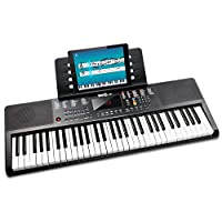 RockJam 61 Key Keyboard Piano with Sheet Music Stand, Piano Note Sticker, Power Supply and Simply Piano Application