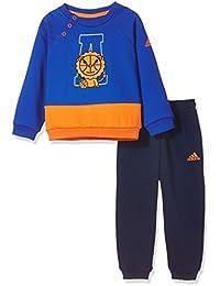 adidas Kids 阿迪达斯 婴儿 婴童针织套服 CX3483 上装:学院蓝/橙黄 下装:学院蓝 92