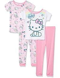 SANRIO 女童 Hello Kitty 棉睡衣套装 4 件套
