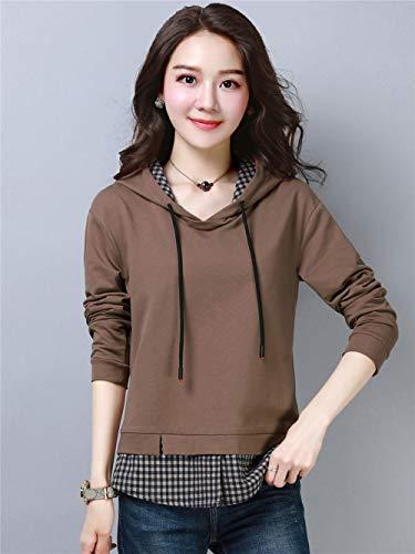 Fanruヴァンゴッホの女性秋秋長袖TシャツレディースルーズLサイズ気質の女性のシャツ野生のシャツの女性のシャツF286-HH