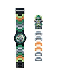Lego Nexo Knights Aaron Minifigure Link Children's Quartz Watch with Multicolour Dial Analogue Display and Multicolour Plastic Bracelet 8020523