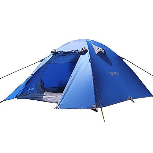 Ads_【3-4人铝杆帐篷】户外野营帐篷 双层设计防暴雨