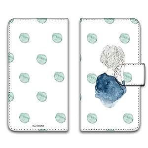 卡丽 壳 印刷手册 女童和圆点 智能手机壳 手册式 对应全部机型 女の子とドットC 6_ シンプルスマートフォン SoftBank 008Z