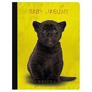 """无树问候徽章柔软封面 140 页推荐大学规则笔记本 Baby Jaguar 9.75"""" x 7.25"""""""