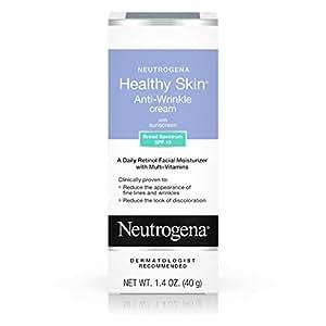 Neutrogena 露得清 抗皱霜,含有维生素A醇 SPF 15防晒霜,无油保湿霜,含维生素E,维生素B5和维生素A,不含香料,39.62克