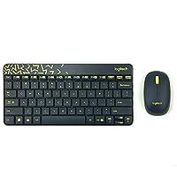 Logitech 罗技 MK240 Nano色彩斑斓精简型键鼠套装 黑色