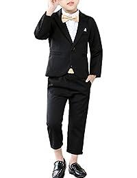 男孩红色紫色灰色黑色 4 色西装外套和裤子套装 2 件套