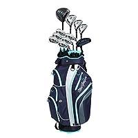 MacGregor 女士 DCT2000 套装高尔夫俱乐部带购物车袋 - 石墨色,女式右手(6-SW)