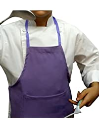 CHEFSKIN Lavender Lillac Medium Lot of 5 Chef Aprons Real Fabric Pocket Lightweight