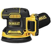 DEWALT 20V MAX 随机轨道磨光器,5 英寸,无绳套件 (DCW210D1)