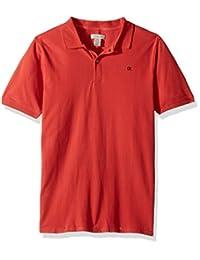 Calvin Klein 男童纯色珠地布 Polo 衫,