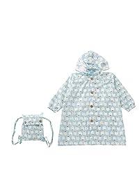 饼干 儿童用 雨衣 苹果 共3种颜色 共3种尺寸 童装 大衣 浅灰蓝色 带收纳袋 蓝色 120 83167
