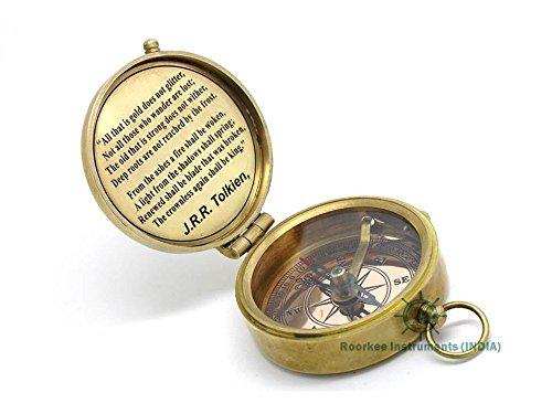 Roorkee Instrumentsインドの堅牢な真鍮製コンパスJ. R. Tolkienレザーケースの紹介。
