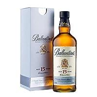Ballantine's 百龄坛 15年苏格兰威士忌 700ml(英国进口)(亚马逊自营商品, 由供应商配送)