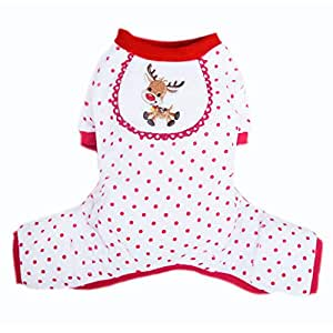 Pooch Outfitters 小狗圣诞套装系列 - 领带、领带、围巾、领滑块、连衣裙、外套、睡衣和帽子 - 非常适合家庭 圣诞卡片照片 M