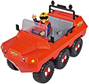 Simba 109251051 消防員 Sam Hydrus 兩棲車,帶人偶,可漂浮,20cm,適用于3歲以上兒童