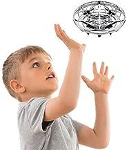 儿童或成人手工操作无人机 - Scoot 免提迷你无人机直升机,简易室内小球形飞行球无人机玩具男孩或女孩 银色