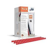 Peach PB404-03 塑料装订书脊 DIN A4,4毫米,200件,红色