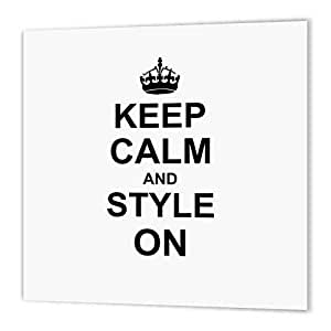 InspirationzStore Typography - Keep Calm and Style on - carry on styling - fashion stylist hairstylist hairdresser gift - fun humor - Iron on Heat Transfers