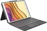 Logitech 罗技 Combo Touch for iPad Air(3. 代)和 iPad Pro 10.5 英寸键盘外壳带触控板,无线键盘和智能连接器技术 - 石墨色