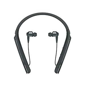 Sony 索尼 WI-1000X 入耳式无线降噪高分辨率耳机,颈挂式,活动识别功能,十小时续航- 黑色