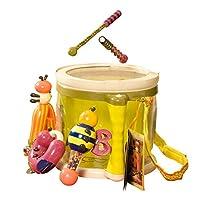 B.Toys 比乐 丛林打击乐大鼓套装 电子音乐启蒙玩具 感官训练 早教会唱歌乐器 认知早教  婴幼儿童益智玩具 礼物 18个月+ BX1007X