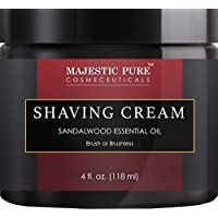 Majestic Pure Sandalwood 男士和女士剃须膏 - 光滑贴面清爽剃须凝胶,4 液体盎司