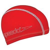 Speedo 速比涛 中性童 青少年泳帽 8-720730004 红色 均码