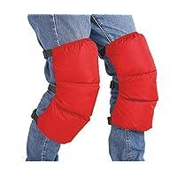 防风护膝 包裹式 保暖 羽绒护膝 护膝 护膝 可调节护膝 护膝 适用于摩托车 自行车 均码 红色 CHI-KNE-106-GRE