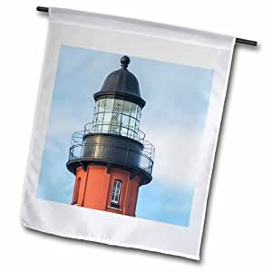 3dRose fl_206789_1 Usa, Florida, Ponce Inlett, Ponce De Leon 入口灯塔美国花园旗,30.48 x 45.72 cm