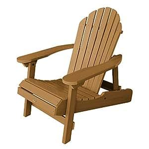highwood Hamilton 折叠和斜倚艾迪龙打卡椅子,特大号, whitewash Toffee 成人