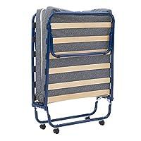 Linon Zio Sleep 蓝色折叠单人床折叠床 白色
