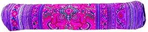 手工布艺花瑜伽垫紫罗兰包配件背带健身房部落艺术泰工艺
