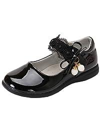 DADAWEN 女童肩带校服礼服鞋 Mary Jane 平底鞋(幼儿/小童)