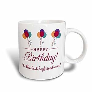 3dRose mug_183520_2 Happy Birthday Best Boyfriend Ever Ceramic Mug, 15 oz, White