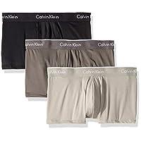 Calvin Klein 男式超细纤维弹力平角内裤,3件装