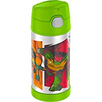 Thermos Funtainer 12 Ounce Bottle Teenage Mutant Ninja Turtles(Colors & Style may vary)