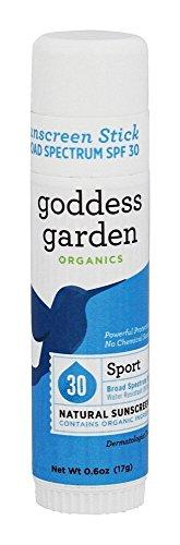 Goddess Garden - 体育自然遮光剂棍子 30 SPF - 0.6盎司美国直邮【亚马逊海外卖家】