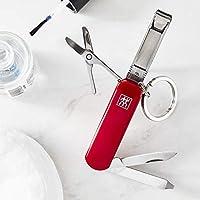 Zwilling 双立人多工具修*剪刀*锉钥匙扣旅行不锈钢60 毫米 红色 42450-003-0