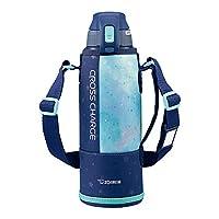 ZOJIRUSHI 象印 水杯 直饮型 运动款 不锈钢保冷水壶 1.0L 藏蓝薄荷绿 SD-FB10-AG