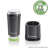 FoodSaver 手持式无线食品真空密封机   带充电底座,1 个真空容器和 10 个拉链真空袋   VS1199   黑色/银色